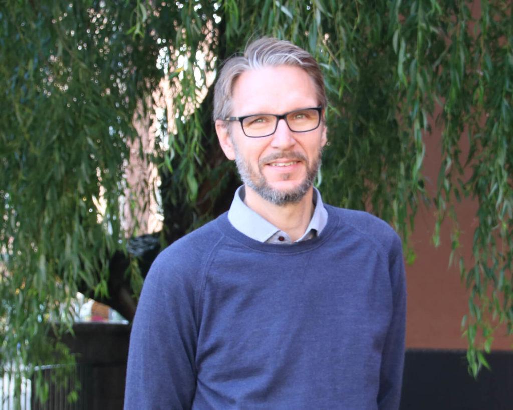 Porträt på Erik Hjorth